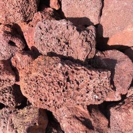 红色天然烧烤火山石 烧烤炉用浮石 红色火山石