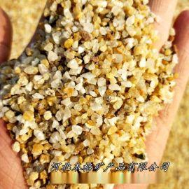 本格供应水处理滤料   石英砂 高纯石英砂黄金沙