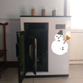 供应家用小型颗粒取暖炉 炊式取暖炉 可烧水做饭