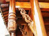成都實木撐弓廠家,仿古吊瓜斗拱定製