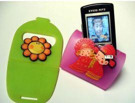 定做pvc軟膠手機座 夜光手機座 卡通手機座