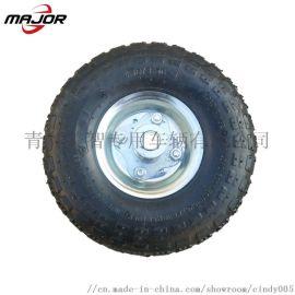 10寸充气轮花园拖车轮子橡胶轮工具车轮子