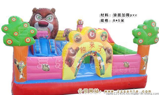8*5米小型充气蹦蹦床  湖南株洲公园里面小孩子玩的气垫跳跳床多少钱