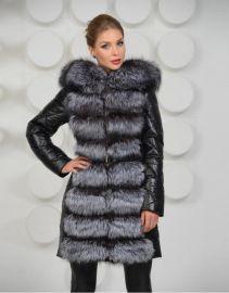 歐美高端皮草女裝大衣時尚狐狸毛冬季