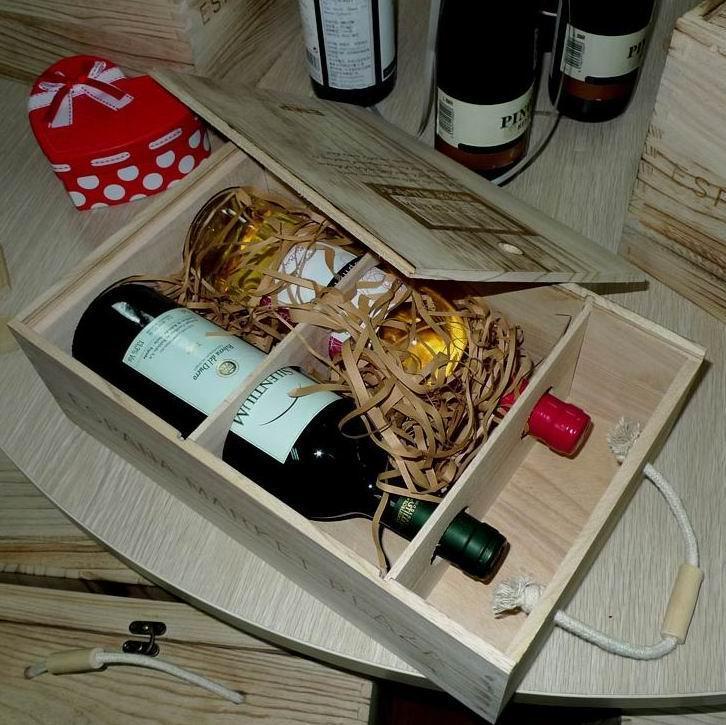 三合酒盒 木盒子 加工定做禮品盒