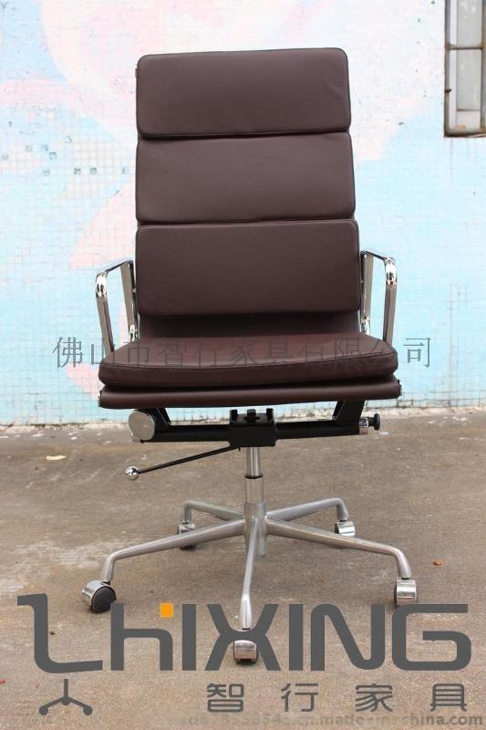 鋁合金框高檔EAMES系列軟包辦公轉椅 促銷辦公傢俱