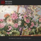 客廳裝飾大型牆壁掛畫 定做手繪大型瓷板畫