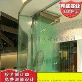 可成移动玻璃隔断商场西餐厅活动玻璃隔墙