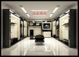 佛山展柜工厂制作高档密度板基材烤漆服装展示柜定制