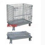 倉儲籠鋼鐵貨架 折疊式倉儲籠架 物流倉儲籠車金屬網鐵絲籠架