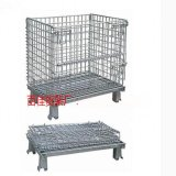 倉儲籠鋼鐵貨架 摺疊式倉儲籠架 物流倉儲籠車金屬網鐵絲籠架