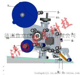 济南鲁卓平面贴标机 高速贴标机 高精度贴标机
