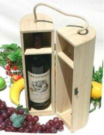 圆形木质酒盒订做--曹县联合工艺品厂