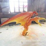 玻璃鋼飛龍翼龍雕塑定製 玻璃鋼動物馬雕塑 玻璃鋼飛馬雕塑定製