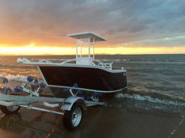 宝的快艇 5米全铝合金游艇 远洋海钓船 铝合金钓鱼艇 工作船5 meters all-aluminum yacht ocean sea fishing boat