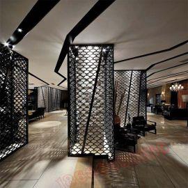 铝窗花背景墙 吊顶隔断简单时尚 厂家定制铝窗花花格