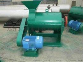 发酵后的鸡粪粉碎就选有机肥设备半湿物料粉碎机 产量高