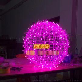 康名灯饰供应LED圆球造型灯 立体圣诞球形灯