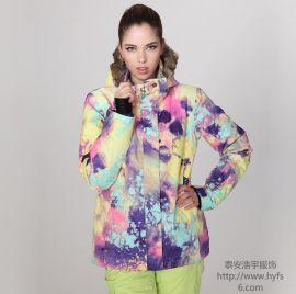 浩宇服饰供应在路上022防风透气滑雪服加工定做ODMOEM