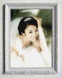 廠家直銷 實木畫框 歐式古典 婚紗影樓相框 白金色花紋 木製相框