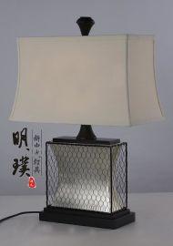 方形中式台灯厂家 酒店客房中式台灯定制 现代新中式铁艺台灯