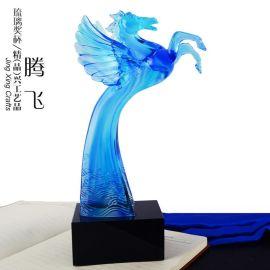 腾飞琉璃奖杯制作  广州水晶奖杯奖牌制作厂家