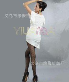 厂家直销性感丝袜批发依莲娜时尚提花小圆点15D包芯丝连裤袜打底