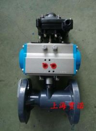 Q641S-10S气动UPVC球阀 气动塑料球阀