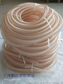 供应pu透明钢丝抽吸风管鹏跃塑胶软管