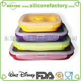 硅胶折叠饭盒  可伸缩冰箱密封盒
