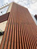 酒店外牆熱轉印木紋幕牆,鋁方通幕牆