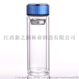 高硼硅双层玻璃杯茶杯车载杯商务杯泡茶杯定制