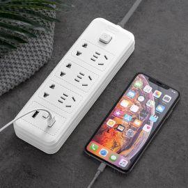广东10A电源接线板USB智能平板插座XC-12