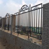 景区铁艺围墙护栏  园林铁艺栏杆公寓带铁艺花栅栏