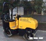 浩鴻全液壓雙鋼輪小型壓路機駕駛型操作壓實路面有力