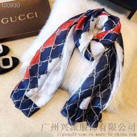 歐美風圍巾 興派洋圍巾 真絲圍巾