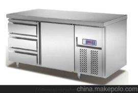 六抽屉风冷工作台 厨房设备 保鲜冷藏设备
