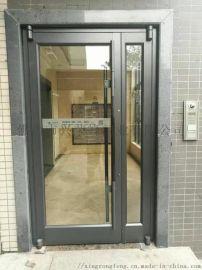 深圳小区入户门 单元楼宇铝型材入户门