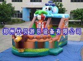 小区滑梯充气跳床游乐设施/儿童充气乐园好玩
