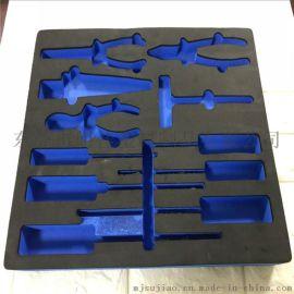 雕刻成型海绵内衬 eva泡棉卡槽工具箱包装内托