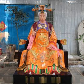 豫莲花太极老母佛像 无极老母神像 皇极老母细节图