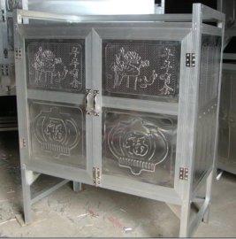 高脚两层不锈钢碗柜
