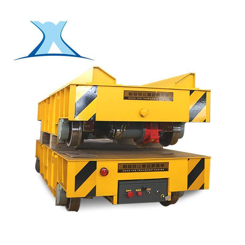 非标定制仓储货物装载平板小车 路轨运料施工电瓶搬运横移车定制