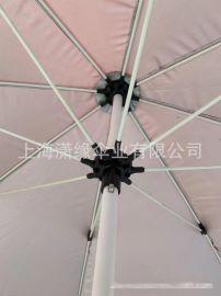 专业定制纤维骨沙滩伞、海滩遮阳伞印刷logo