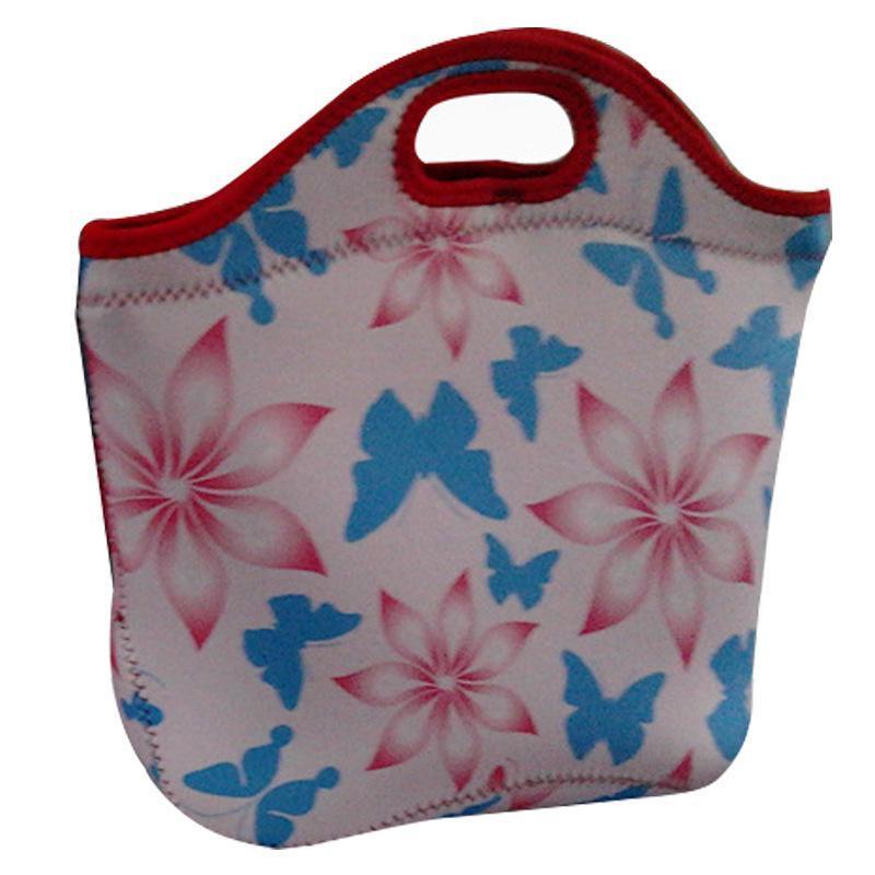 常州厂家供应 NEOPRENE午餐包潜水料印花午餐包饭盒保温袋野餐包