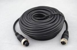 工厂直供**15米4芯航空插头延长线 公转母连接线M12车载视频线