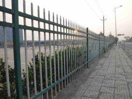 **围墙铁艺护栏  小区三横杆喷塑锌钢围栏