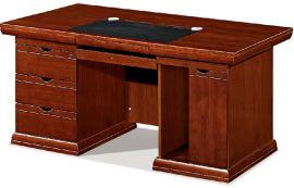 1618款1.6米油漆文员台 胡桃木皮绿色环保家具