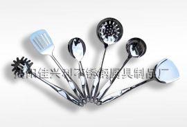 烹饪勺铲套装 不锈钢勺铲套件 厨具七件套 厨房用品