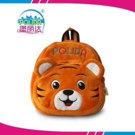 厂家**可爱动物老虎幼儿小书包毛绒玩具儿童背包淘宝批发